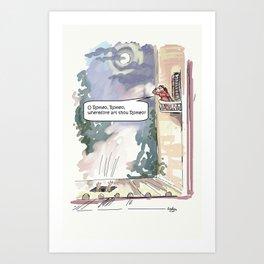 O Romeo, Romeo, wherefore art thou Romeo? Art Print