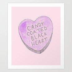Candy coated Black heart Art Print