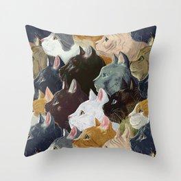 Never ending cats Throw Pillow