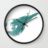 final fantasy Wall Clocks featuring FINAL FANTASY VII by DrakenStuff+