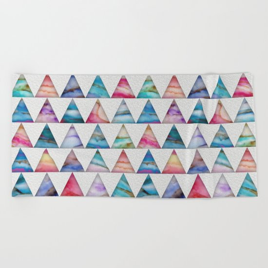 Marble Triangles 2 Beach Towel