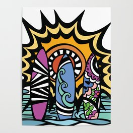 Stoked Surfboards Poster