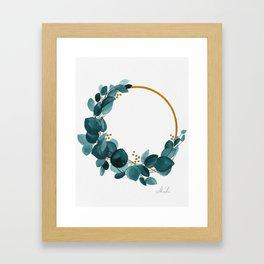Eucalyptus wreath Framed Art Print