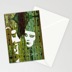 LOVE BETWEEN MASKS Stationery Cards