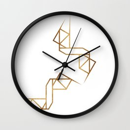 industrial golden glitters Wall Clock