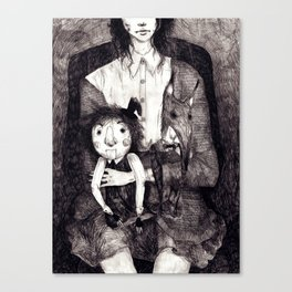 A girl and her Dolls Canvas Print
