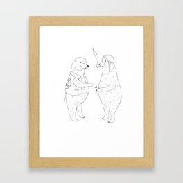 Cigarettes for bears Framed Art Print