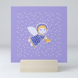 Angel on the light violet Mini Art Print