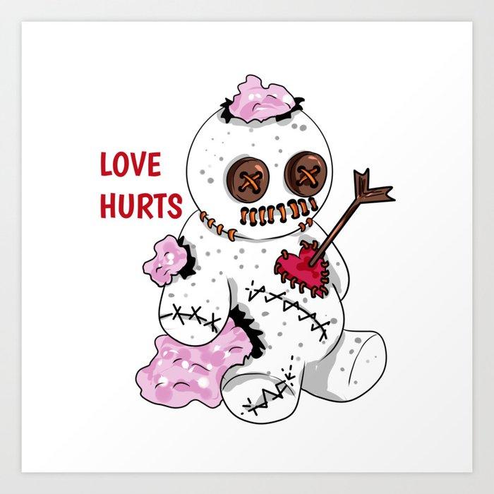 love hurts voodoo doll Divorce Break Up Art Print by moonpie90