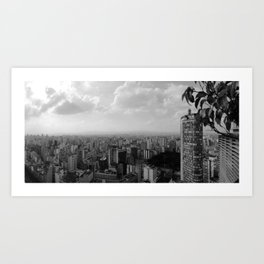 São Paulo View from the Top Art Print