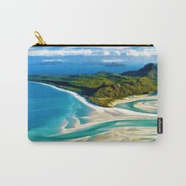 Crystal white sands and turquoise blue waters of Whitehaven Beach – Australia Carry-All Pouch