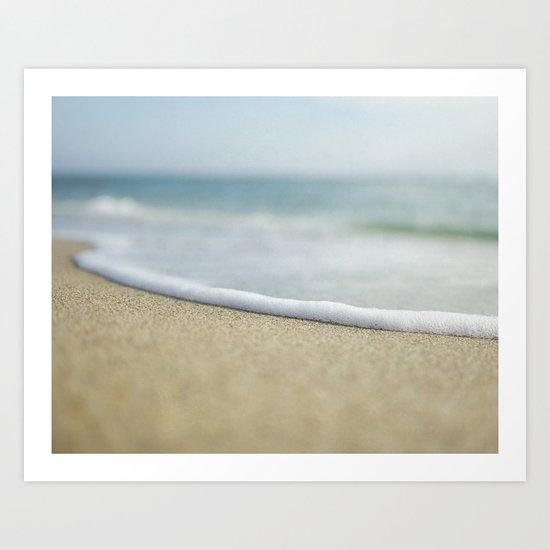 Sea Foam Beach Art Print