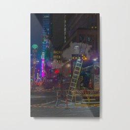 Maintenance the Street, B Metal Print