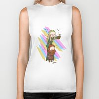 legolas Biker Tanks featuring Party Legolas and Gimli  by BlacksSideshow