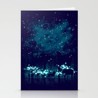 calvin Stationery Cards featuring Cosmic Safari by dan elijah g. fajardo