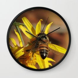 Desert Sunflower Pollen Picker Wall Clock