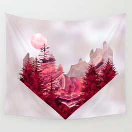 Moon Landscape in Mineral Texture on Mother of pearl Wall Tapestry