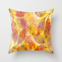 Changing Seasons Abstract Throw Pillow