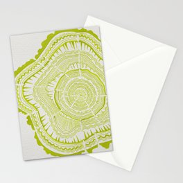 Lime Tree Rings Stationery Cards