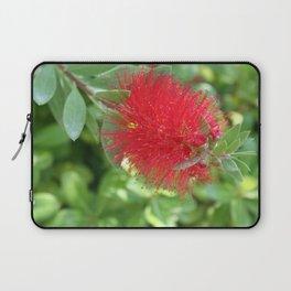 Beautiful Bottle Brush Flower With Garden Background Laptop Sleeve