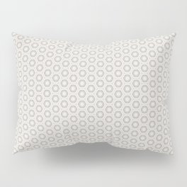 Hexagon Light Gray Pattern Pillow Sham