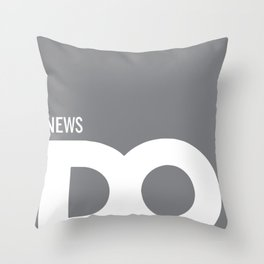 Cropped D.O. News Logo Throw Pillow