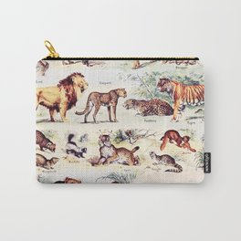 Vintage Antique Wildlife Encyclopedia Print Carry-All Pouch