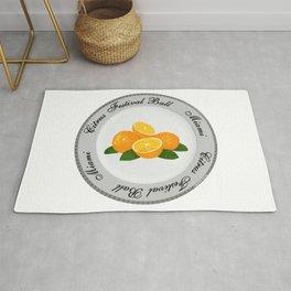 Citrus Festival Plate Rug