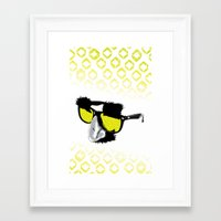 marx Framed Art Prints featuring Groucho Marx by Michelle Eatough