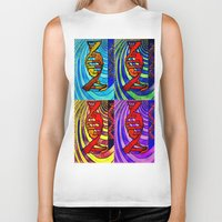 dna Biker Tanks featuring DNA by Art By Carob
