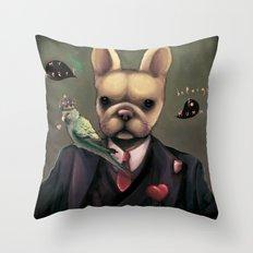 My heart belongs to Mummy Throw Pillow