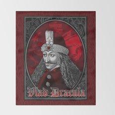Vlad Dracula Gothic Throw Blanket