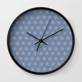 Very Simple Snow Flake - Light blue illustration Wall Clock