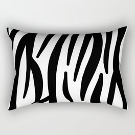 abstract modern safari animal black and white zebra print Rectangular Pillow