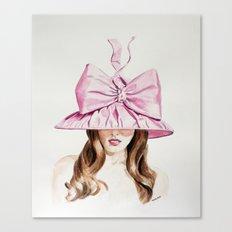 Pink Derby Hat Canvas Print