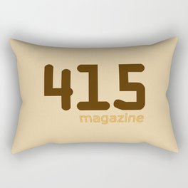 415 Magazine Logo Rectangular Pillow