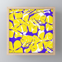 Yellow flowers Framed Mini Art Print
