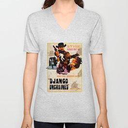 Django unchained alternative poster Unisex V-Neck