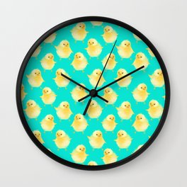 EASTER CHICK PATTERN Wall Clock