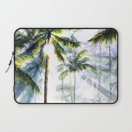 Balinese Art - Watercolor Rice Fields Laptop Sleeve
