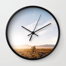 Nevada Desert Sunrise V Wall Clock