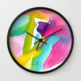 Follow Your Heart - watercolor abstract minimalism modern art Wall Clock