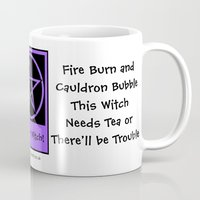 pagan Mugs featuring This Witch Needs Tea! Pagan Wiccan Cup Mug by Cheeky Witch