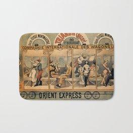 1896 Orient Express musical revue Paris Bath Mat