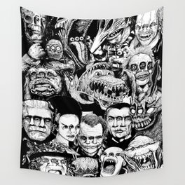 So Many Monsters Wall Tapestry