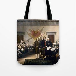 Signing The Declaration Of Independence Tote Bag