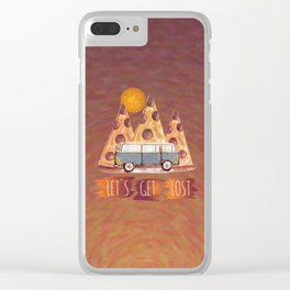 Lost Pizza Clear iPhone Case