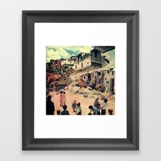 Where do you go for a better life? Framed Art Print