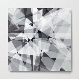 black and white multipolygon Metal Print