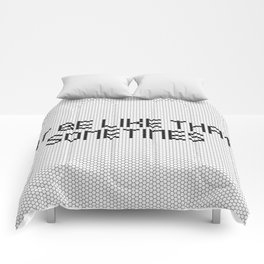 """It be like that sometimes"" Black & White Tile Comforters"